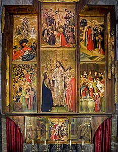 Barcelona Cathedral Interior - Altarpiece of the Transfiguration by Bernat Martorell.jpg