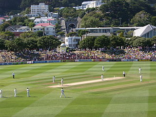 Basin Reserve sports ground in Wellington, New Zealand