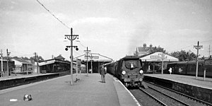 Basingstoke railway station - The station in 1963