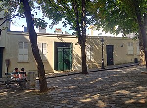 Le Bateau-Lavoir - The rebuilt building now on the site of Le Bateau-Lavoir
