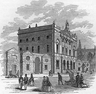 City of Bath Technical School - Bath Guildhall 1864, before the new Technical schools extension was built.