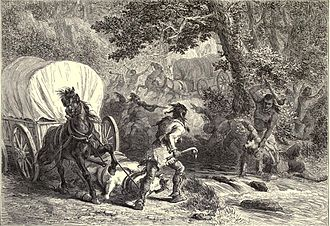 Battle of Bloody Brook - 19th century depiction of the battle