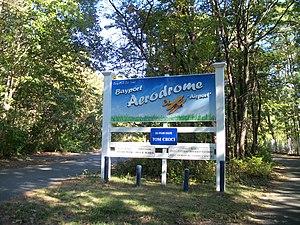 Bayport Aerodrome - Bayport Aerodrome Entrance.