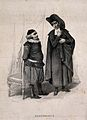 Bazile and Bartolo, characters from a story by Beaumarchais, Wellcome V0009471.jpg