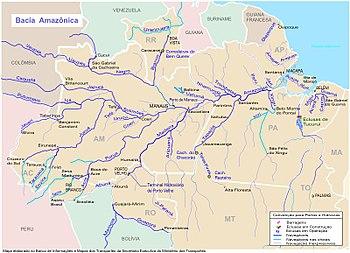 Carte Amerique Du Sud Amazonie.Bassin Amazonien Wikipedia