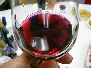 A glass of Beaujolais nouveau