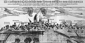 1590 Neulengbach earthquake - Contemporary illustration of the damage in Vienna