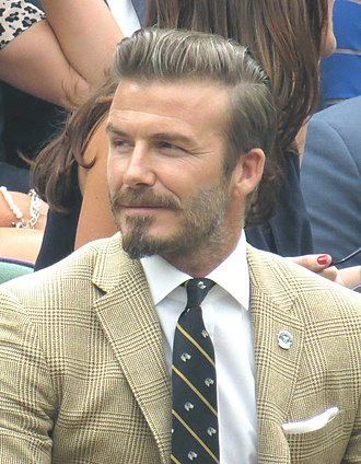 David Beckham - Beckham at the 2014 Wimbledon Championships