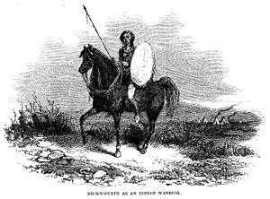 James Beckwourth - Beckwourth as Indian warrior, 1856