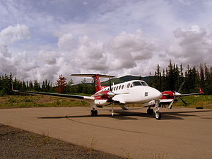Fraser Lake Airport - Image: Beechcraft Super King Air in Fraser Lake (712051604)