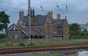 Belford (Northumberland) railway station - Northbound station building in July 2014
