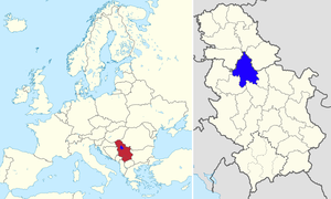 Location in Europe and Serbia