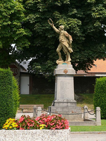 The war memorial of Bellicourt (Aisne, Picardie, France).