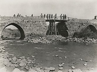 Sapper - Jisr Benat Yakub repaired (September 1918)