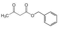 Benzyl acetoacetate structure.png