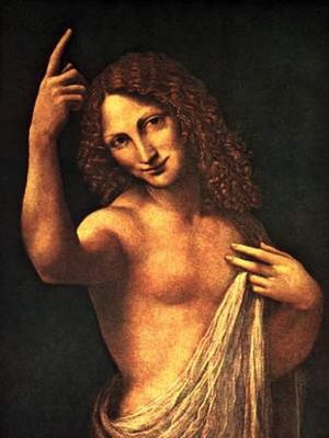 St. John the Baptist (Leonardo) - Image: Bernardino Luini. Angel of Annunciation. After Leonardo da Vinci