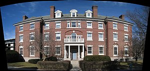 Bertram Hall (Radcliffe College) - Image: Bertram Hall, Radcliffe Quadrangle, 53 Shepard Street, Cambridge, MA pano