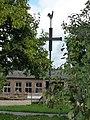 Beuningen (Gld) boerderij Hosterdstraat 12 kruis met haan.JPG