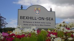 Bexhill town limit sign, Bexhill Road.jpg