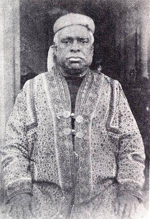 Bhaktivinoda Thakur - Kedarnath Datta in official magistrate dress, late 1880s