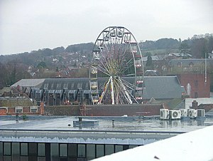 Eden, High Wycombe - Ferris wheel erected to celebrate the centre's opening