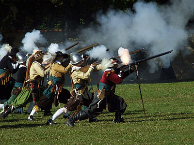 Modern re-enactment of the Battle of White Mountain Bila hora rekonstrukce 4.jpg