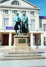 Goethe und Schiller Denkmal in Weimar