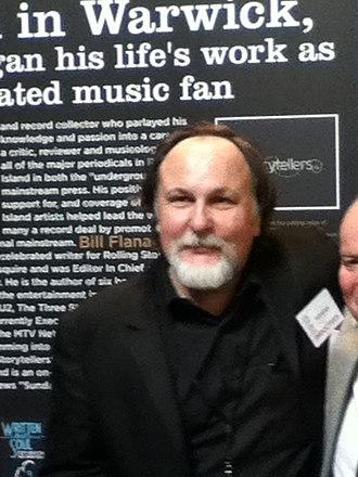 Bill Flanagan - Flanagan at the Rhode Island Music Hall of Fame