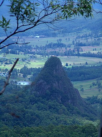 Binna Burra - Egg Rock seen from Binna Burra