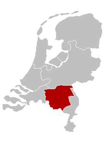 Location of the Diocese of 's-Hertogenbosch