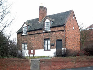 Francis Asbury - Bishop Asbury Cottage, Asbury's boyhood home at Great Barr