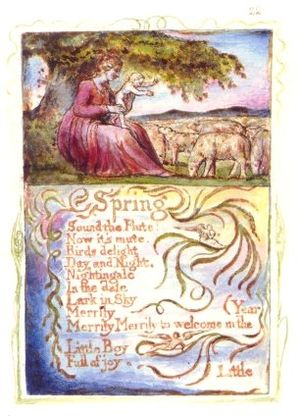 """Spring (poem) - The first plate of """"Spring"""""""