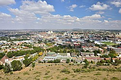 Kilátás a Bloemfonteinre a Naval Hill felett
