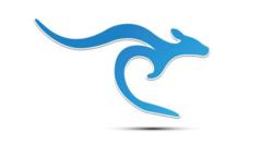 Blue kangaroo logo