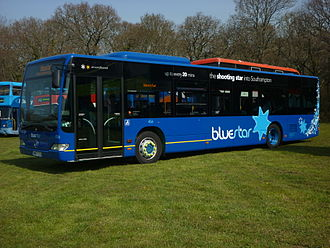Bluestar (bus company) - Mercedes-Benz Citaro in Bluestar livery in April 2010