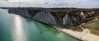 Cliffside, Toronto - View of Cliffside and the Scarborough Bluffs from the southeast at Bluffer's Park