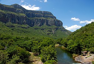 Blyde River Canyon - The Blyde as it exits the canyon near Swadeni