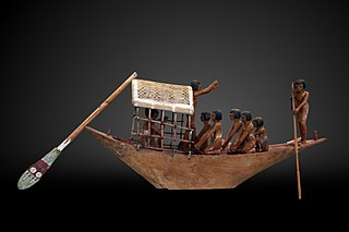 Boat model with owner holding a flower-E 284