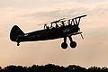 Boeing PT-17 Kaydet A75N1 N54945 OTT 2013 03 silhouette.jpg