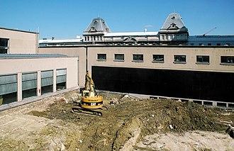 Blandijn - Image: Boekentoren court under construction