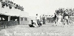 1921 Alabama Crimson Tide football team - Lynn Bomar as he scored his first quarter touchdown for Vanderbilt.