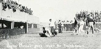 1921 Vanderbilt Commodores football team - Lynn Bomar's touchdown against the Thin Red Line