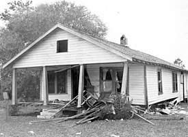 Home of the Moores after the bombing on Christmas Day.