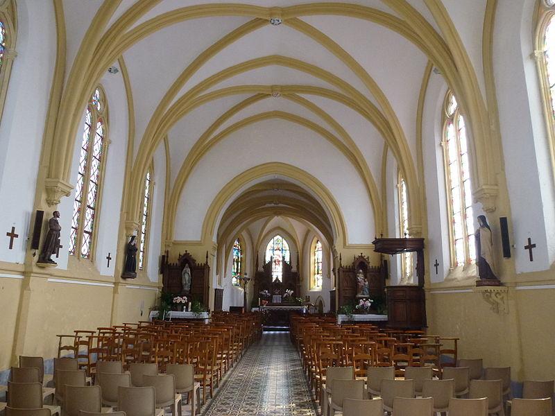 Bonningues-lès-Ardres (Pas-de-Calais) église, intérieur