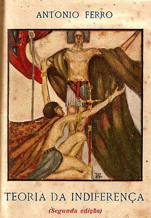 António Ferro - Teoria da Indiferença, 1920. Cover design by  Armando de Basto.