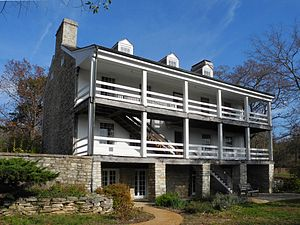 National Register of Historic Places listings in St. Charles County, Missouri - Image: Boone Home Defiance MO 22