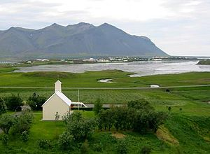 Egil's Saga -  A view of Borg á Mýrum where Egill Skallagrímsson spent much of his life.