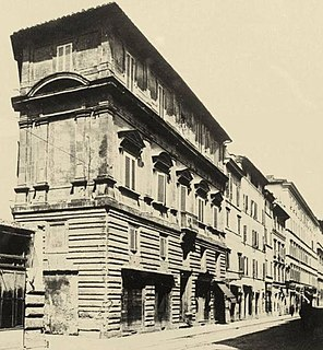 demolished Renaissance palace in Rome, Italy