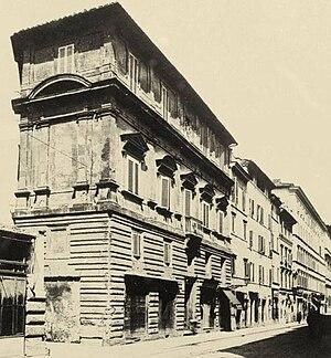 Palazzo Jacopo da Brescia - The Palazzo Jacopo da Brescia along the Borgo Nuovo road, 1930 ca.