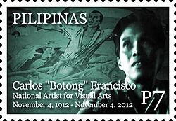 Botong Francisco 2012 stamp of the Philippines.jpg